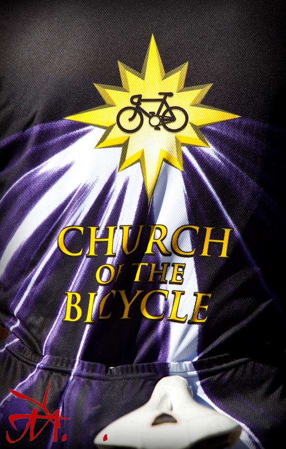 For some bicycling is a form of religion apparently.