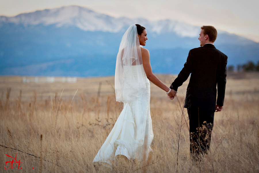 Rachelle And Drew Go For A Walk At Sunset With Pike S Peak In The Background