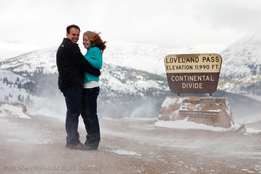 Jake and Kelly are tough Colorado people. I get cold just looking at this image.
