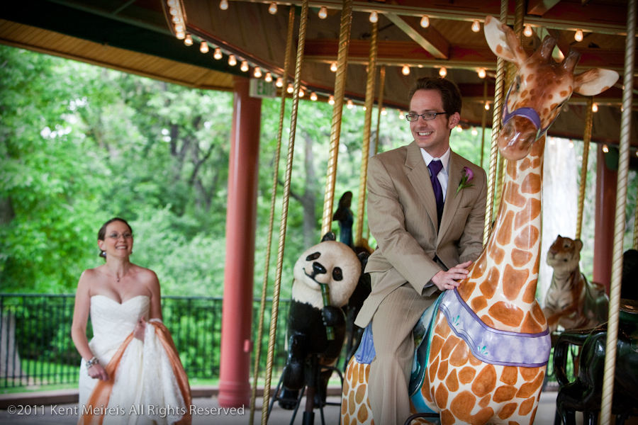 katrina and colins wedding at the denver zoo