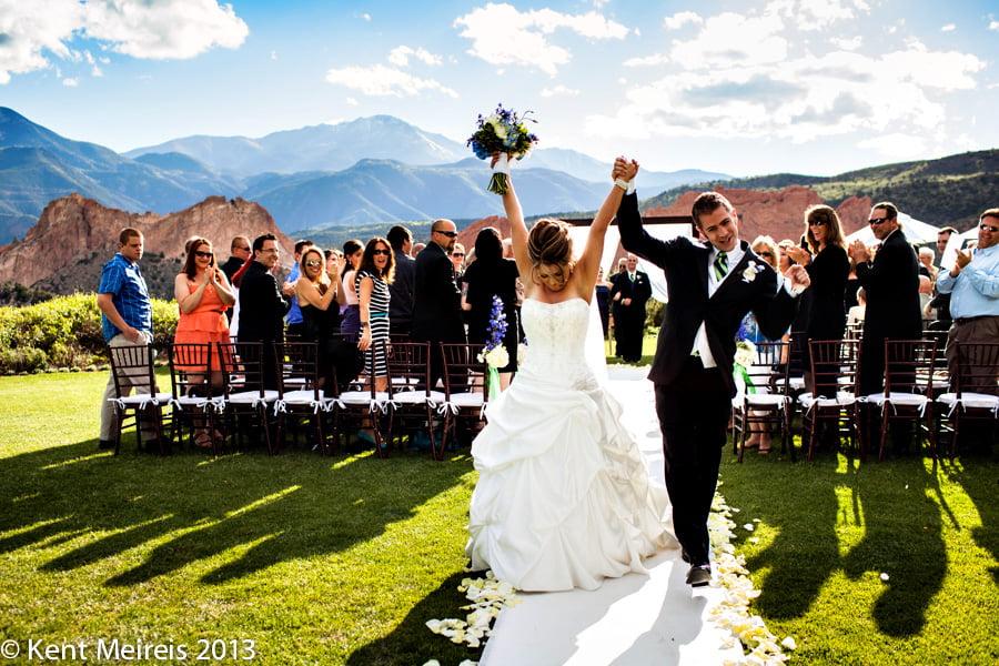 Garden Of The Gods Club Wedding   Rachel U0026 Aaron   Montana Wedding  Photography