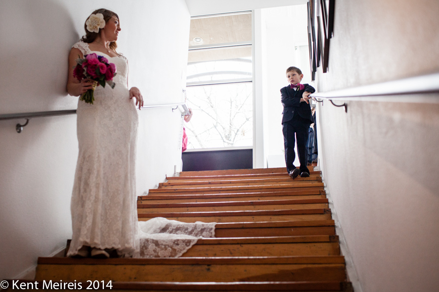 Bride-Ringbearer-moment-Wedding-Picture