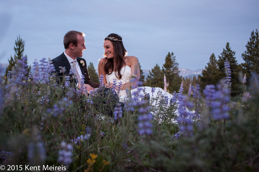 Colorado-Wedding-Photographers-Bride-Groom-Blue-Wild-Lupine