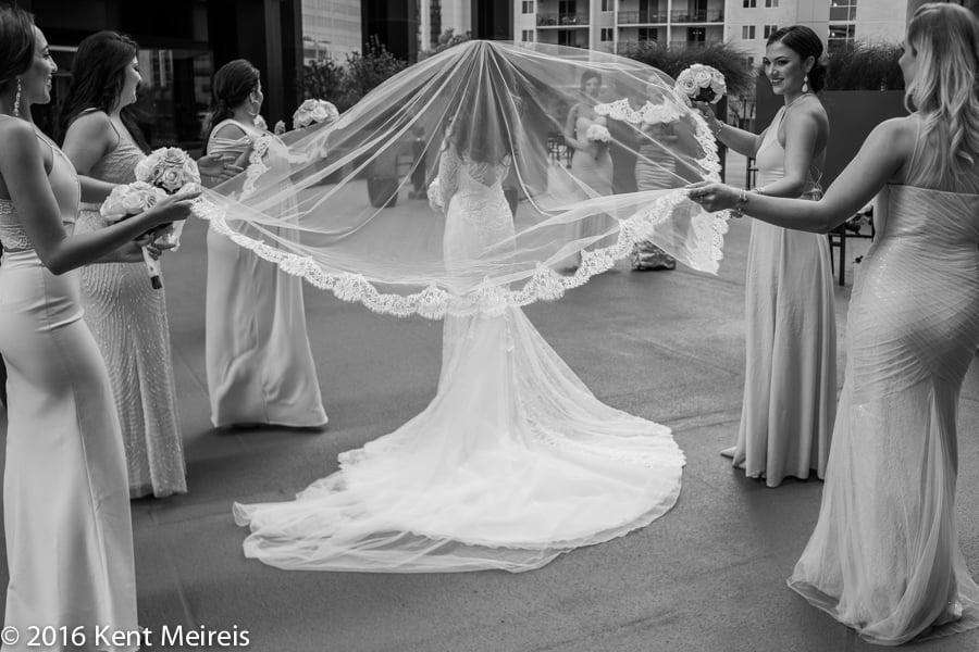 Bride_Wedding_Dress_Veil_Bridesmaids_Denver Greek Orthodox Wedding