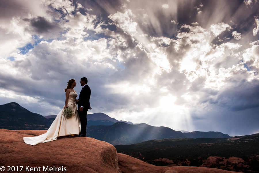 Manitou Springs Colorado Wedding Portrait Garden of the Gods Pikes Peak