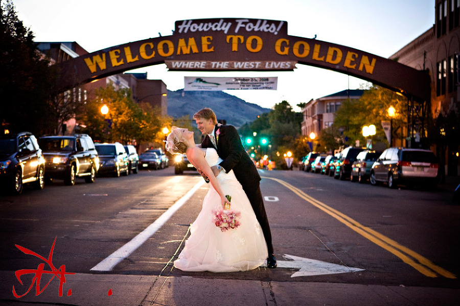 Jenny and Joel in downtown Golden where they both grew up.