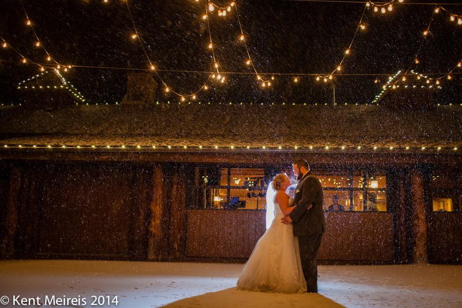 Bride-Groom-Dancing-Snow-Storm-Ranch-Wedding-Reception