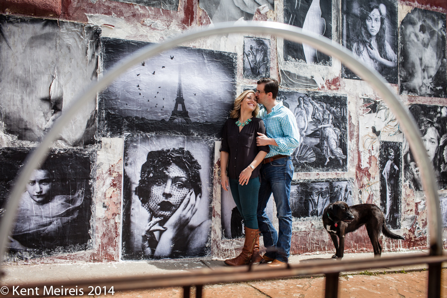 Denver-Engagment-Picture-Dog-Art