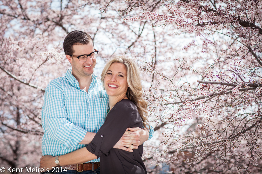 Denver-Engagment-Picture-Cherry-Blossoms
