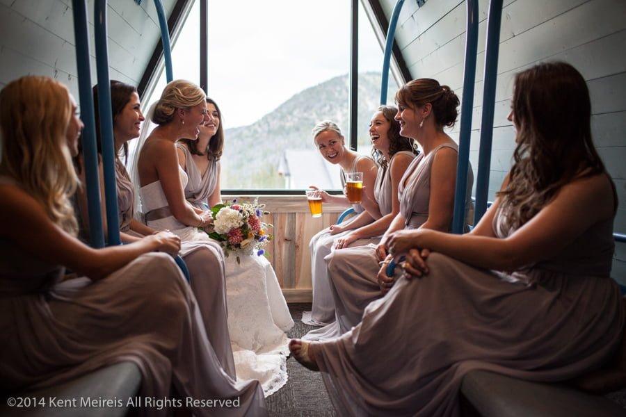 Bride-bridesmaids-Arapahoe-Basin-Wedding-Picture-Toast