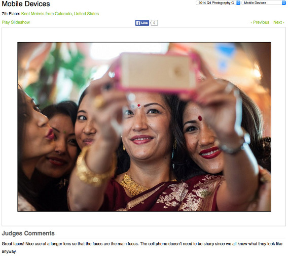 WPJA-Winner-Award-Wedding-Picture-Nepali-Woman-Selfie