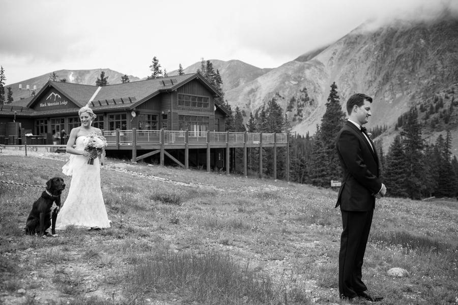 Bride-Groom-Dog-Reveal-Black_Mountain_Lodge_Arapahoe_Basin_Colorado