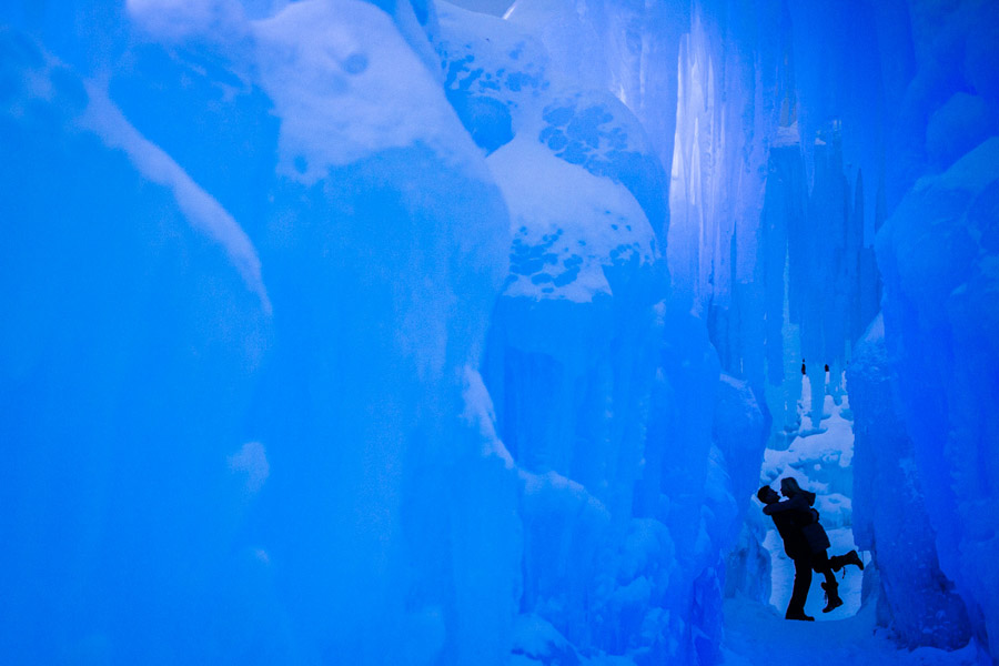 Breckenridge-Colorado-Ice-Castle-Engagement-Photo