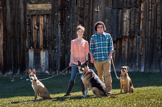 Engagement-couple-Dogs-Colorado-PIcture