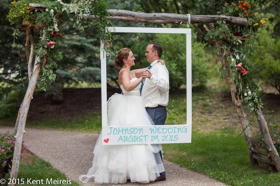 Bride-Groom-Photo-Frame-Wedding-Picture-Redstone-Colorado-Destination