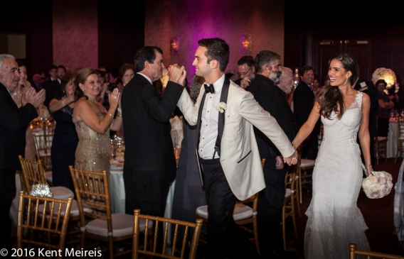 Greek_Bride_Groom_Reception_Enterance_Ritz_Carlton_Denver_Colorado_Denver Greek Orthodox Wedding