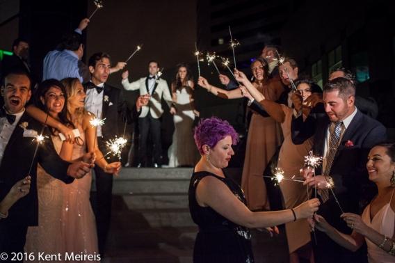 Greek_Bride_Groom_Sparkler_Wedding_Reception_Exit_Denver Greek Orthodox Wedding