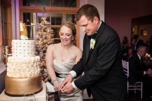 Denver New Years Eve Wedding Cake Cutting
