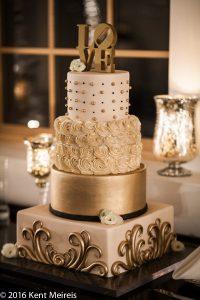 Denver New Years Eve Wedding Cake