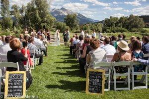 Old Thompson Barn Wedding Ceremony