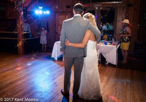 Old Thompson Barn Wedding Reception Bride Groom