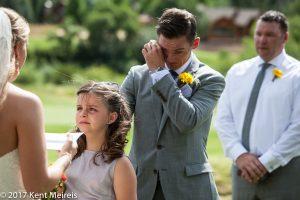 Old Thompson Barn Wedding Ceremony Tears