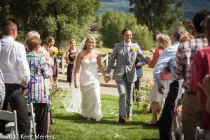 Old Thompson Barn Wedding Cermony Resessional