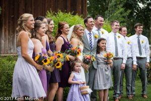 Old Thompson Barn Wedding bridal party