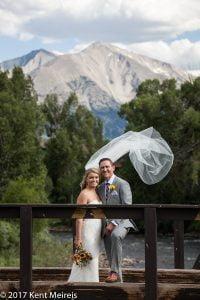 Old Thompson Barn Wedding bride groom portrait