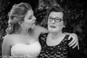Manitou Springs Colorado Wedding Bride Aunt Hug Tears Moment