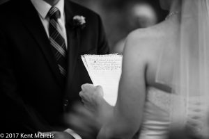 Manitou Springs Colorado Wedding Bride Vows Hand written notes