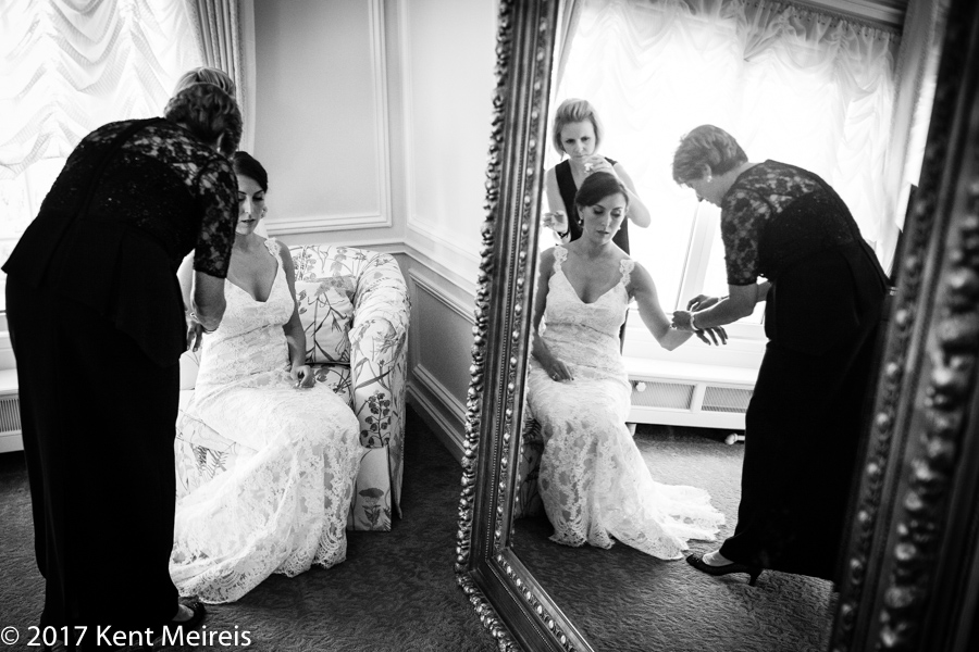 Highlands Ranch Mansion Wedding Bride Getting Danced Mother Bracelet Reflection Mirror