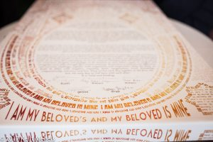 Highlands Ranch Mansion Wedding Jewish Contract Ketubah