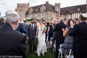 Highlands Ranch Mansion Wedding Recessional Bride Groom