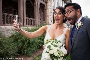 Highlands Ranch Mansion Wedding_Selfie_Bride_Groom