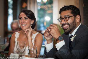 Highlands Ranch Mansion Wedding Reception Toasts Bride Groom