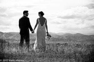 Highlands Ranch Mansion Wedding Bride Groom Portrait Rocky Mountains