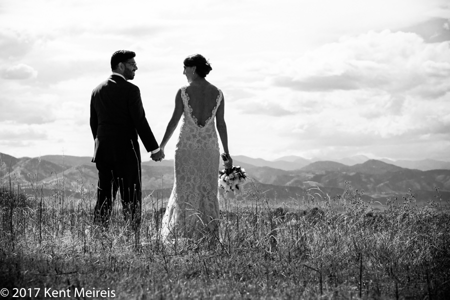 Highlands Ranch Mansion Wedding Bride Groom Portrait Rocky Mountains