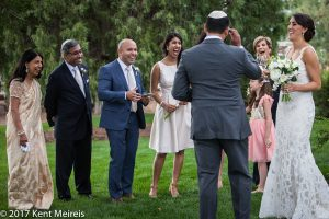 Highlands Ranch Mansion Wedding Reception Bride Groom Friends Family Laughts