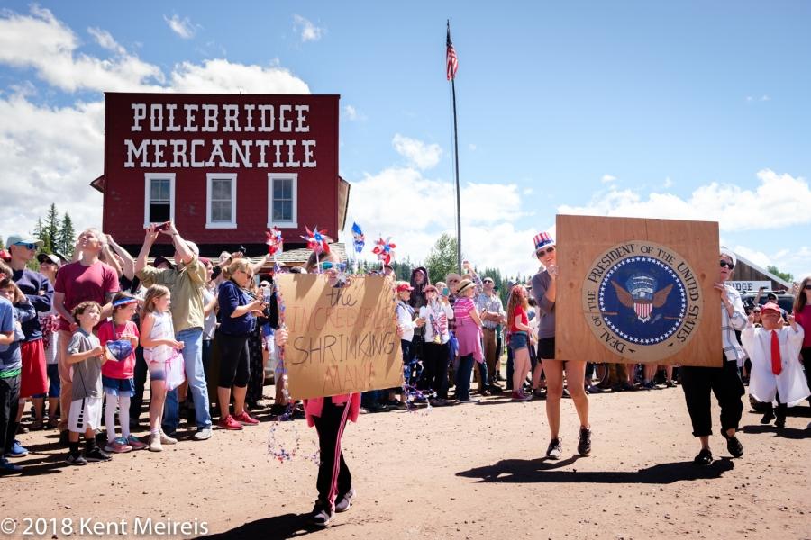 Fourth of July Parade Polebridge Montana President Trump