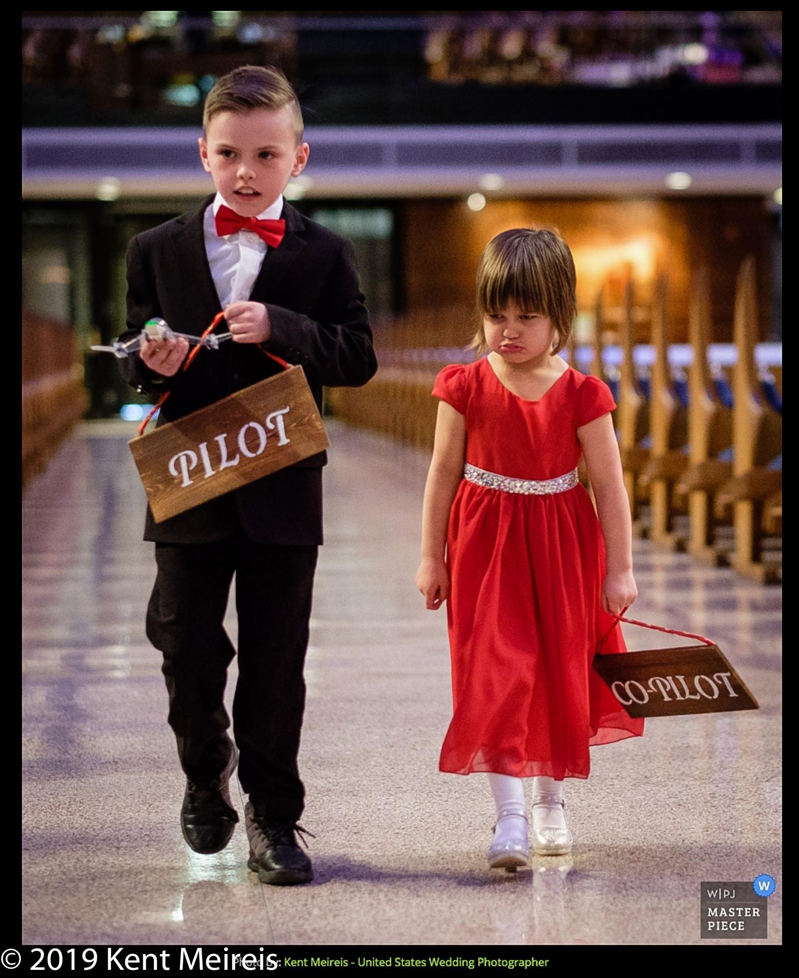Award Winning Wedding Photojournalist Kalispell Montna Pilot Co-Pilot Ringbearer flowergirl