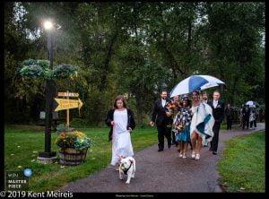 Award Winning Wedding Photojournalist Kalispell Montna Bull Dog Rain Party