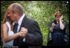Award Winning Wedding Photojournalist Kalispell Montna Father Daughter Dance Mother Video tears