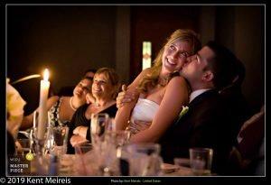 Award Winning Wedding Photojournalist Kalispell Montna Bride Groom Candlelight Moment Kiss